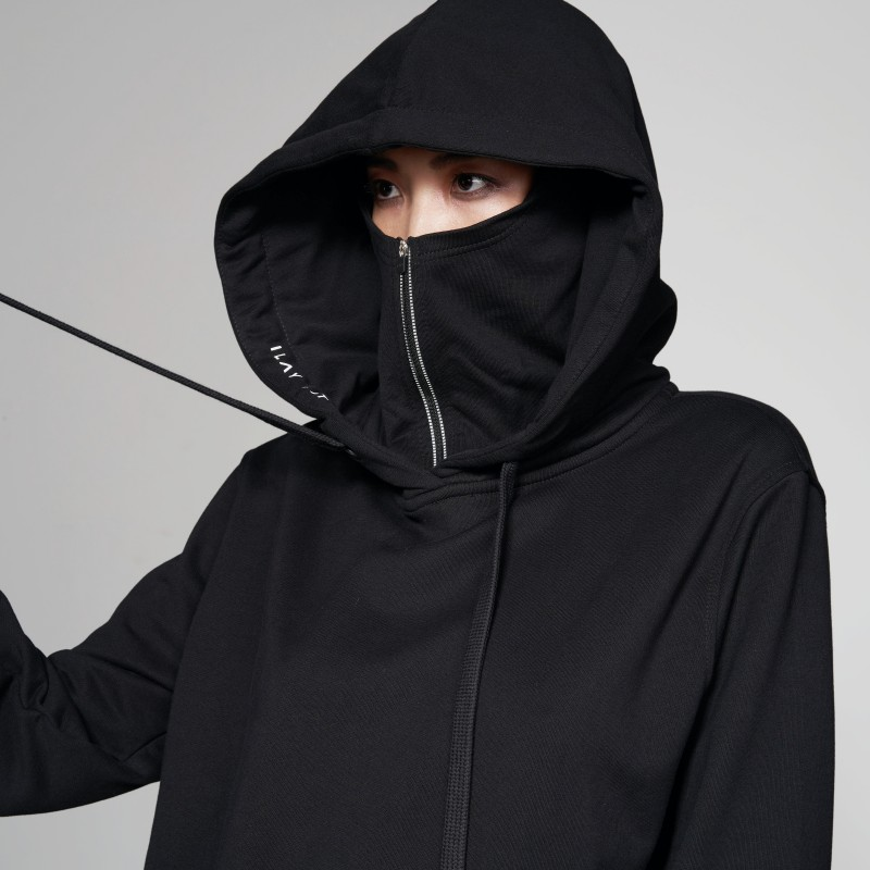 Ike Face Mask Hoodie UNISEX bis XXL BLACK